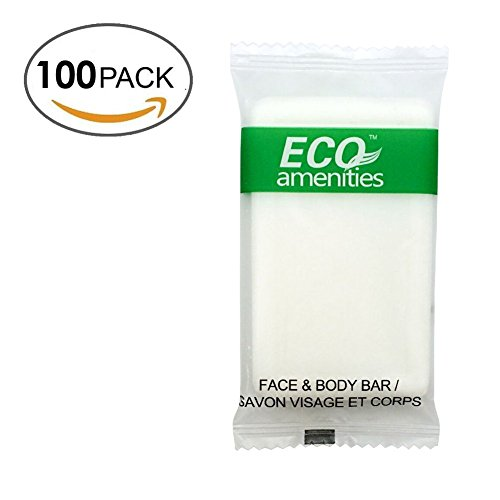 ECO Amenities Spa Sachet Individually Wrapped 1 ounce Cleaning Soap, 100 Bars per Case (Small Hotel Soaps compare prices)