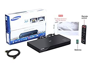 est Samsung Smart 3D and wifi Blu-ray Disc Player with Anynet+ remote and 15 preloaded apps,Up to 1080P full HD upconvesion Plus FYX 6FT high Speed HDMI cable, USB and built-in wifi by Samsung