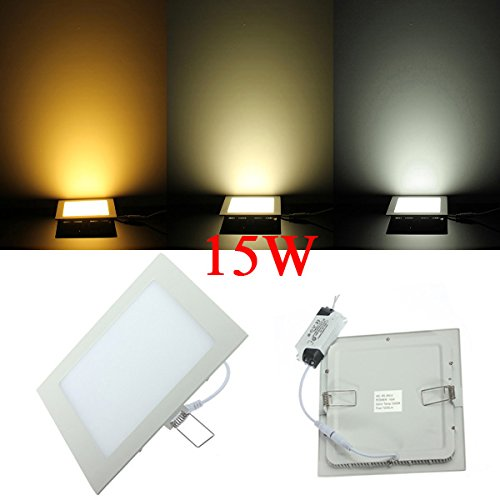 15W Square Ceiling Ultrathin Panel Led Lamp Downlight Light 85-265V