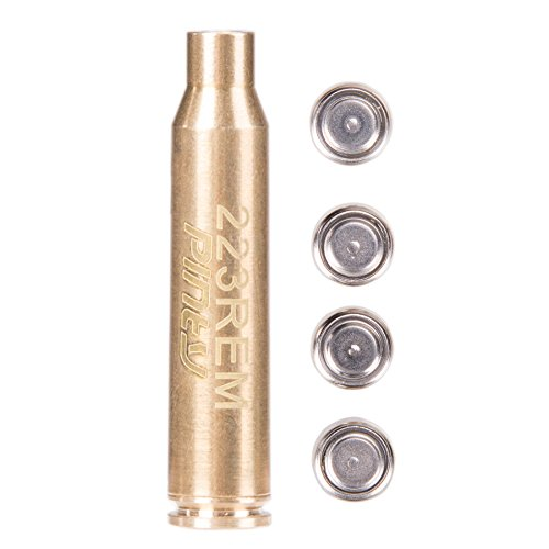 Pinty Laser Red Dot for Scopes 223 REM Bore Sight Cartridge Sight 5.56 Nato