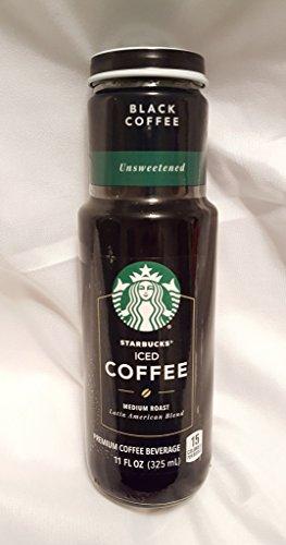 Starbucks Iced Coffee 6 - 11oz Bottles (Black Coffee Unsweetened)
