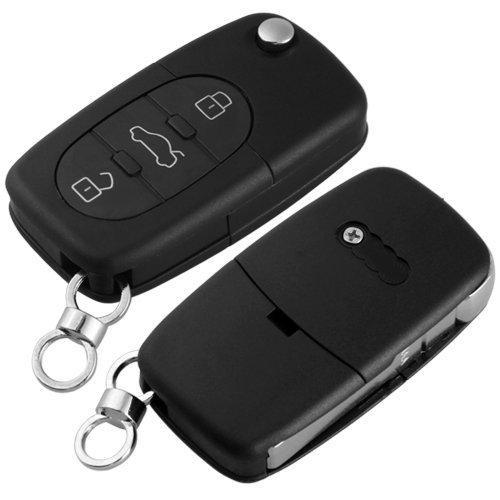 SODIAL(R) Etui de cles a distance Fob coque 3 boutons Non coupe lame pour AUDI A2 A3 A4 A6 A8 TT