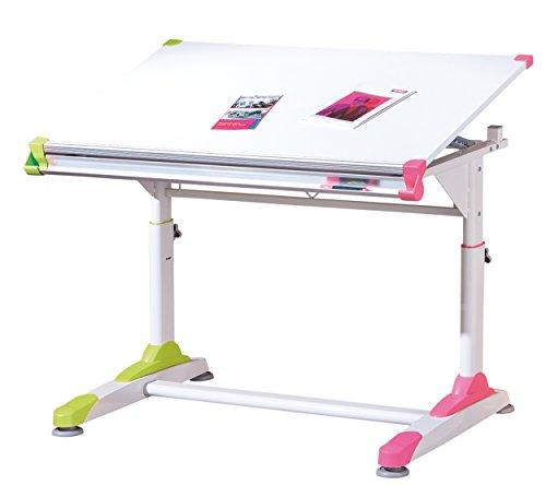 Links-50900440-Kinderschreibtisch-Schlerschreibtisch-Schreibtisch-Kind-Schler-wei-rosa-grn