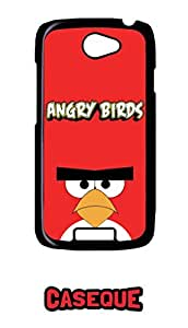 Caseque Angry Bird Red Back Shell Case Cover for HTC One S