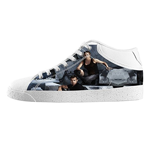 RenBen Non-slip plimsolls Custom Divergent Men's Canvas Shoes Footwear Sneakers Flat Shoes