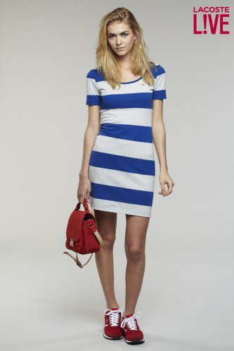 L!VE Short Sleeve Rugby Stripe Dress