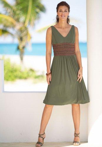 Crochet-Waist Knit Dress