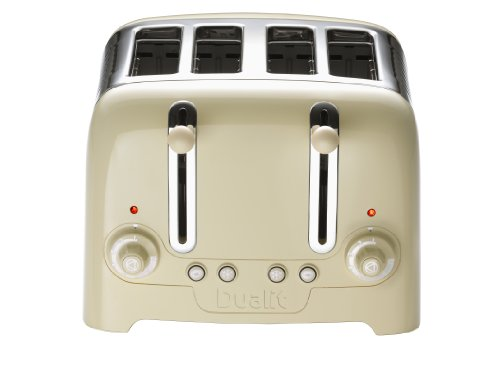 Dualit 46202 4 Slot Lite Toaster in Cream Gloss Finish