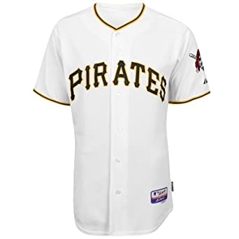MLB Pittsburgh Pirates Six Button Cool Base Authentic Home Jersey Mens by Majestic