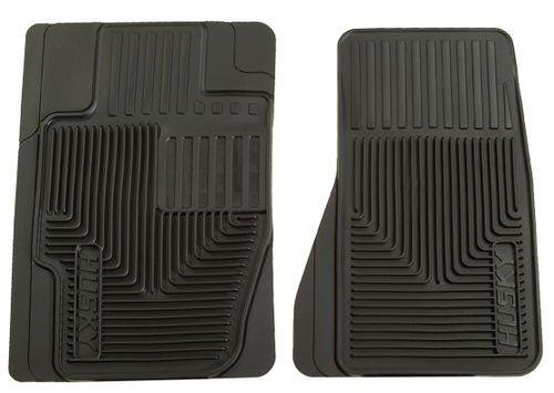 Husky Liners 51121 Heavy Duty Black Rubber Front Floor Mat - Pack of 2