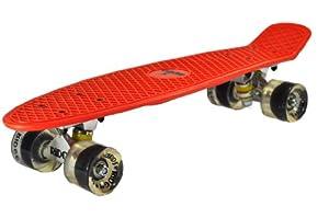 Ridge Retro 27 Skateboard complet Rouge/Transparent 27'' x 7,5''