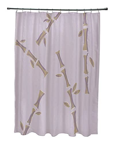 e by design Petite Shoots & Leaves Shower Curtain, Lavender/Brown