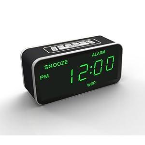dexford horloge radio reveil retro eclairage led high tech. Black Bedroom Furniture Sets. Home Design Ideas
