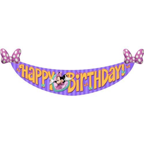 Best Deals! Minnie's Bow-tique Birthday Banner