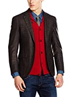 Hackett London Americana Lana Burdeos Chk Jkt M (Chocolate)