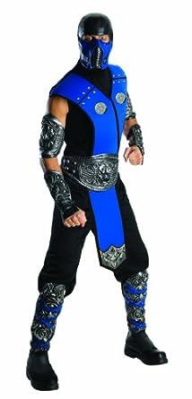 Mortal Kombat Sub Zero Adult Costume, Blue, One Size