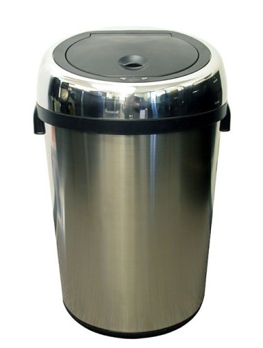Itouchless Fully Automatic Stainless Steel Touchless Trashcan Nx, 23 Gallon (87 Liter)
