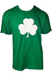 Screen Printed Green Irish Shamrock T-shirt St Patricks Day Mens Ireland Tee Shirt