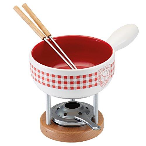 Kuhn Rikon 32207Caquelon pour fondue, fromage, blanc, 19,5x 3x 1,2cm