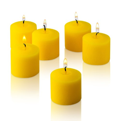 10 Hour Citronella Summer Yellow Votive Candles Set of 72 MADE IN USA