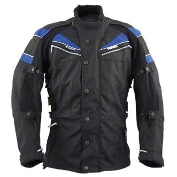 Roleff Racewear 7163 Blouson Moto Berlin, Bleu/Noir, M