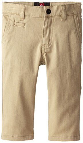 Quiksilver Baby-Boys Infant Union Chino Pant, Sand Khaki, 18 Months front-328569