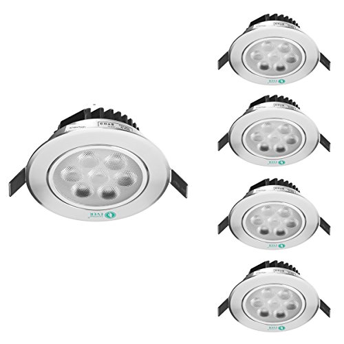 Le 7W 3.5-Inch Led Recessed Ceiling Light, 75W Halogen Bulbs Equivalent, Daylight White, Led Spotlights, Recessed Lighting, Pack Of 4 Units