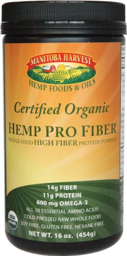 Manitoba Harvest Hemp Foods & Oils - Hemp Pro Fiber - Whole Food High Fiber Protein, 16 oz powder