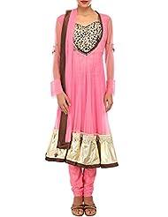 Kalki Fashion Pink Anarkali Suit Adorn In Zardosi And Gotta Patti Lace. Only On Kalki