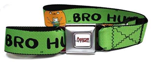 Adventure Time Seatbelt Belt - Finn & Jake Bro Hug On Grass