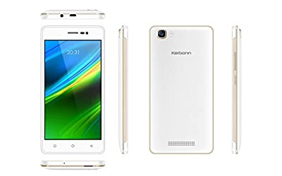 Karbonn K9 Smart | Dual SIM | ROM 8GB | Kitkat | 3G | - White+Gold