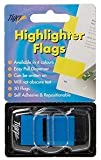 Tiger sticky highlighter flags - fluorescent blue colour