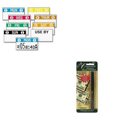 KITDRI351B1MNK925208 – Value Kit – Monarch Marking FreshMarx Freezx Color Coded Labels (MNK925208) and Dri-mark Smart Money Counterfeit Bill Detector Pen for Use w/U.S. Currency (DRI351B1)