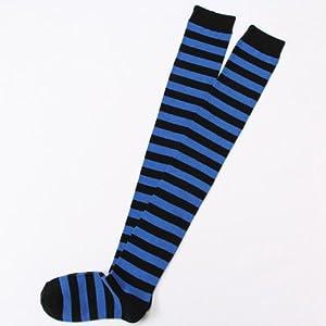 Blue Stripe Panty & Stocking with Garterbelt Animal the Knee Sock Stockings Jp65