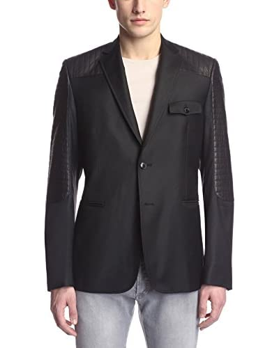 Pierre Balmain Men's Leather Patch Sportcoat