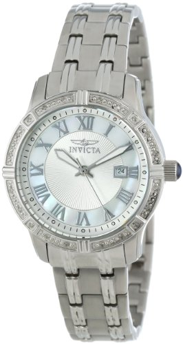 Invicta Angel 14993 32mm Diamonds Silver Steel Bracelet & Case flame fusion Women's Watch