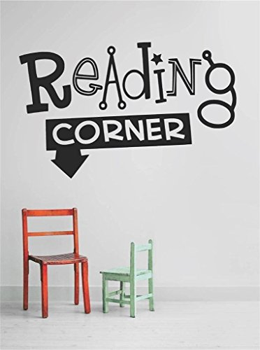 Top Selling Decals - Prices Reduced : Vinyl Wall Sticker : ReAdiNg CORNER Quote Home Living Room Bedroom Decor ITEM - 22 Colors Available Size: 10 Inches X 20 Inches