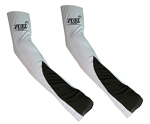 FUEL Arm Sleeve For Bikers/Cyclist L Size Reversible- Black/ST2 (Set Of 4)