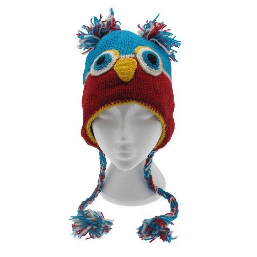 Fun Owl Handmade Winter Woollen Animal Hat with Fleece Lining, UNISEX images