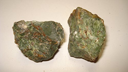 (#3) 2Pc Chrysoprase From Madagascar Large - Raw Rough 100% Natural Crystal Gemstone Specimen