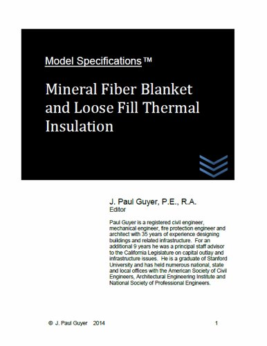 model-specifications-mineral-fiber-blanket-and-loose-fill-thermal-insulation-english-edition