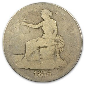 1875-CC Trade Dollar Fair Condition