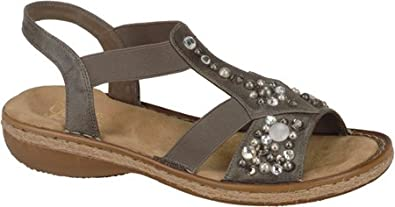Rieker Women's Regina 70 Smoke Leather Size 36 Medium