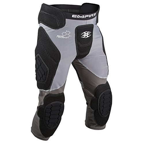 Empire Paintball Neoskin Slider Shorts w/ Knee Pads - Black/Grey - Large (Paintball Slide Pants compare prices)