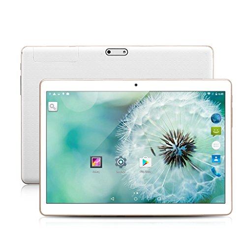 Excelvan 9.6 pollici Tablet PC Android 5.1 MT6735 Quad Core 1GB/16GB Dual SIM Webcam 3G/4G Bluetooth GPS WiFi OTG FM, Bianco