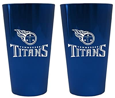 Tennessee Titans Official NFL 16 fl. oz. Pint Glasses by Boelter Brands 035435