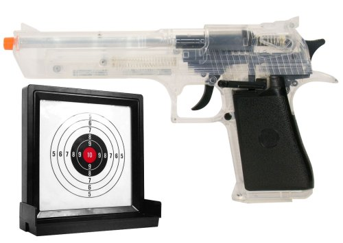 Soft Air Desert Eagle .44 Magnum Spring Powered Airsoft Pistol with Target (Clear)