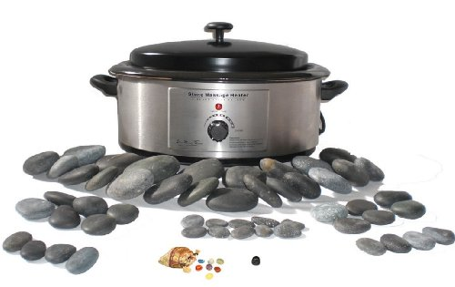 Holistic Supplies 60 Piece Massage Stone Kit + 6 Quart Heater