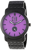 Rockwell Time Unisex CT110 Cartel Black Steel Band Purple Dial Watch