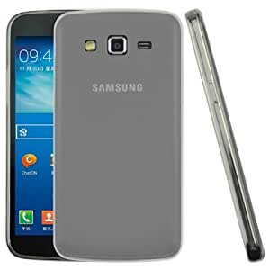 0.45mm Ultra-thin Polycarbonate Material TPU & Jelly Case for Samsung Galaxy Grand 2 / G7106 (Transparent)